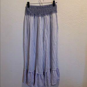ruffled beach pants elastic waist